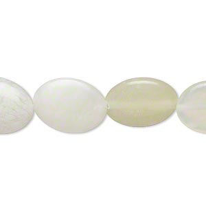 bead, sea green new jade (natural), 16x12mm-17x12mm puffed oval, d grade, mohs hardness 2-1/2 to 6. sold per 15-inch strand. minimum 2 per order.