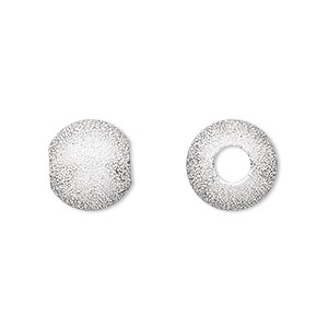 bead, silver-plated brass, 12mm stardust round with 4.7mm hole. sold per pkg of 24.