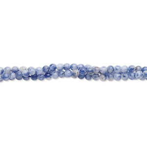 bead, sodalite (natural), 2mm round, b grade, mohs hardness 5 to 6. sold per 16-inch strand.