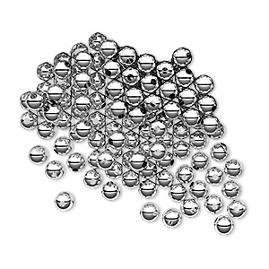 bead, sterling silver, 3mm seamless-look round. sold per pkg of 100.