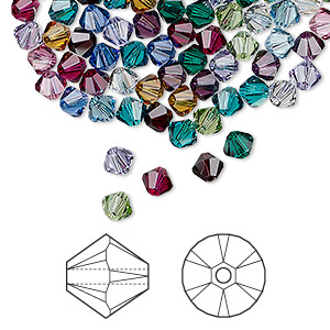 56901b777 Bead, Swarovski® crystals, Birthstone, 4mm Xilion bicone (5328). Sold per  pkg of 48. Other Package Size(s) Here