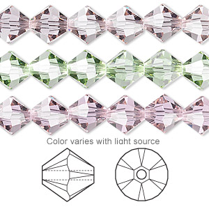 bead, swarovski crystals, cantaloupe, 8mm faceted bicone (5301). sold per pkg of 12.