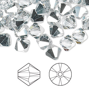 bead, swarovski crystals, crystal cal, 8mm xilion bicone (5328). sold per pkg of 288 (2 gross).
