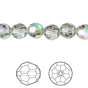 bead, swarovski crystals, crystal paradise shine, 8mm faceted round (5000). sold per pkg of 288 (2 gross).
