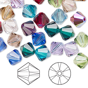 bead, swarovski crystals, crystal passions, birthstone, 8mm xilion bicone (5328). sold per pkg of 144 (1 gross).