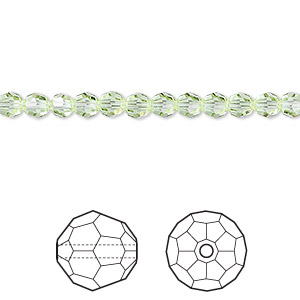 bead, swarovski crystals, crystal passions, cantaloupe, 4mm faceted round (5000). sold per pkg of 12.
