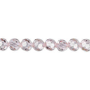 bead, swarovski crystals, crystal passions, cantaloupe, 6mm faceted round (5000). sold per pkg of 144 (1 gross).