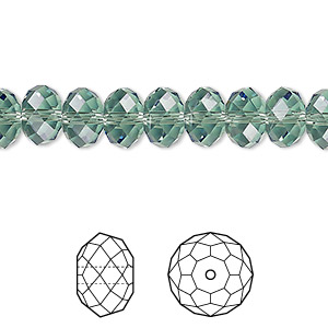 bead, swarovski crystals, crystal passions, erinite, 8x6mm faceted rondelle (5040). sold per pkg of 12.