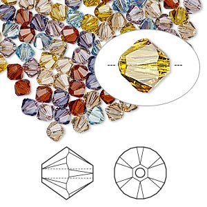 bead, swarovski crystals, crystal passions, oregon evening, 4mm xilion bicone (5328). sold per pkg of 144 (1 gross).