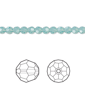 bead, swarovski crystals, crystal passions, pacific opal, 4mm faceted round (5000). sold per pkg of 12.