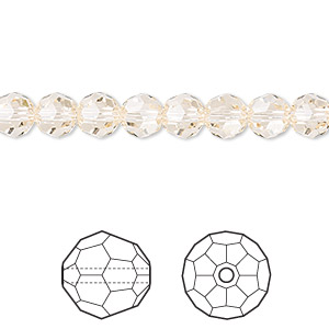 bead, swarovski crystals, crystal passions, silk, 6mm faceted round (5000). sold per pkg of 12.