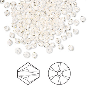 bead, swarovski crystals, silk, 3mm xilion bicone (5328). sold per pkg of 1,440 (10 gross).