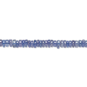 bead, tanzanite (heated), 4x1mm-5x2mm hand-cut rondelle, b grade, mohs hardness 6 to 7. sold per 8-inch strand, approximately 100-150 beads.