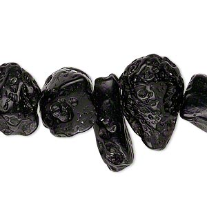 bead, tektite (waxed), medium to large top- and center-drilled nugget, mohs hardness 5 to 5-1/2. sold per 15-inch strand.