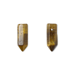 bead, tigereye (natural), 17x6mm hand-cut point, b grade, mohs hardness 7. sold per pkg of 2.