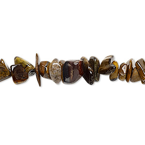 bead, tigereye (natural), small chip, mohs hardness 7. sold per 15-inch strand.