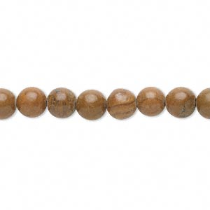bead, tigerskin jasper (coated), 6mm round, c grade, mohs hardness 4 to 5. sold per 15-inch strand.