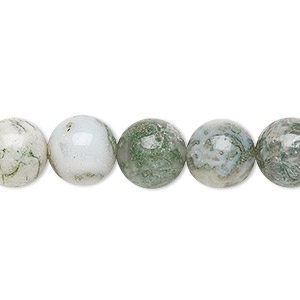 bead, tree agate (natural), 10mm round, b grade, mohs hardness 6-1/2 to 7. sold per 16-inch strand.