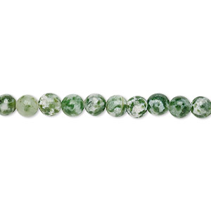 bead, tree agate (natural), 4mm round, c grade, mohs hardness 6-1/2 to 7. sold per pkg of (10) 16-inch strands.
