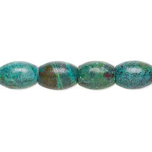 bead, turquoise (dyed / stabilized), 10x8mm-11x8mm barrel, c grade, mohs hardness 5 to 6. sold per 7-inch strand.