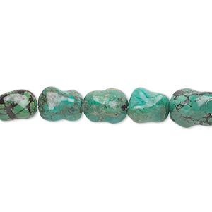 bead, turquoise (dyed / stabilized), blue, 10x8mm dog bone, c grade, mohs hardness 5 to 6. sold per 16-inch strand.