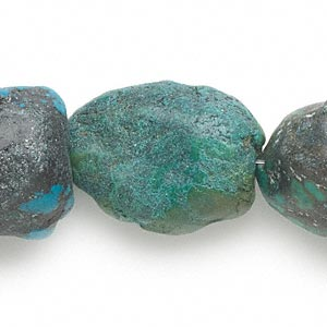bead, turquoise (dyed / stabilized), large to gigantic nugget, mohs hardness 5 to 6. sold per 15-inch strand.