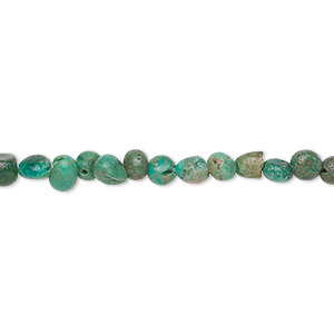 bead, turquoise (dyed / stabilized), small pebble, mohs hardness 5 to 6. sold per 15-inch strand.