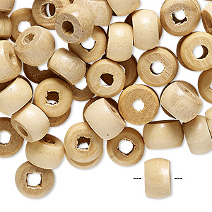 bead, vintage japanese wood (coated), 8x5mm-9x6mm rondelle with 3mm hole. sold per pkg of 100.