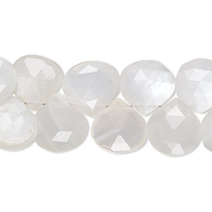 Natural Grey Moonstone Teardrop Faceted Gemstone Beads 7.5/'/'Inch 8x10mm Two Strand 101ct.