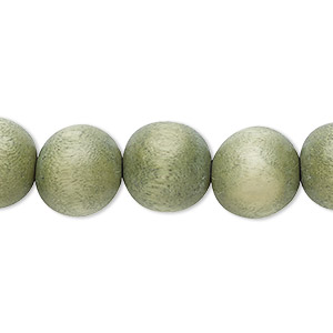 bead, wood (dyed / waxed), greige, 12mm round with 1.5-3mm hole. sold per pkg of (2) 16-inch strands.