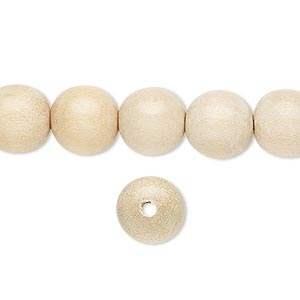 bead, wood (waxed), 9-10mm hand-cut round. sold per pkg of (4) 16-inch strands.