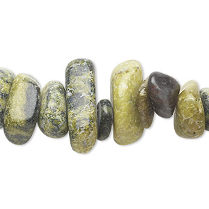 bead, yellow turquoise (natural), large chip, mohs hardness 2-1/2 to 6. sold per 16-inch strand. minimum 4 per order.