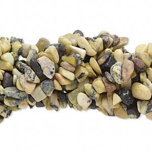 bead, yellow turquoise (natural), medium chip, mohs hardness 2-1/2 to 6. sold per pkg of (10) 34-inch strands.