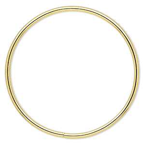 beading hoop, gold-finished steel, 3-inch closed round. sold per pkg of 4.