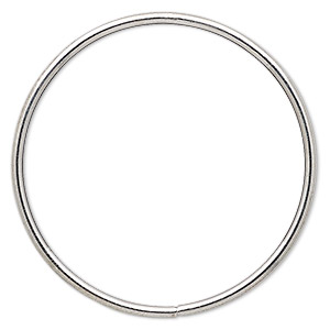 beading hoop, imitation rhodium-plated steel, 3-inch closed round. sold per pkg of 4.