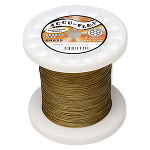 beading wire, accu-flex, nylon and brass, clear, 7 strand, 0.014-inch diameter. sold per 1,000-foot spool.