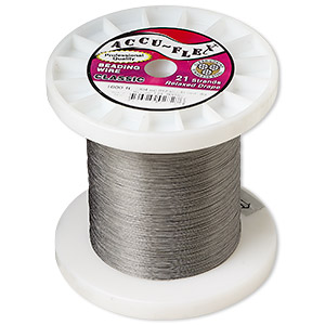 beading wire, accu-flex, nylon and stainless steel, clear, 21 strand, 0.012-inch diameter. sold per 1,000-foot spool.