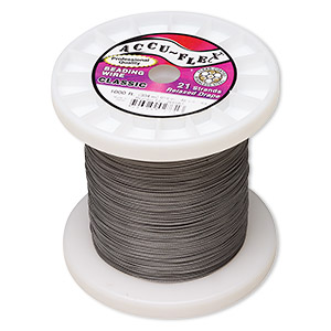 beading wire, accu-flex, nylon and stainless steel, clear, 21 strand, 0.019-inch diameter. sold per 1,000-foot spool.