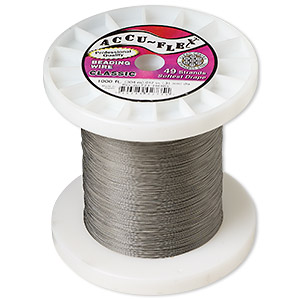 beading wire, accu-flex, nylon and stainless steel, clear, 49 strand, 0.012-inch diameter. sold per 1,000-foot spool.
