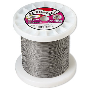 beading wire, accu-flex, nylon and stainless steel, clear, 49 strand, 0.024-inch diameter. sold per 1,000-foot spool.