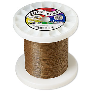 beading wire, accu-flex, nylon and stainless steel, copper, 49 strand, 0.014-inch diameter. sold per 1,000-foot spool.