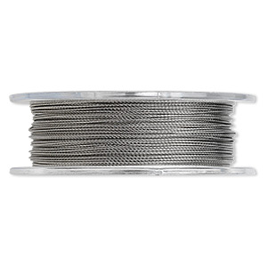 beading wire, tigertail™, nylon-coated stainless steel, clear, 3 strand, 0.018-inch diameter. sold per 30-foot spool.