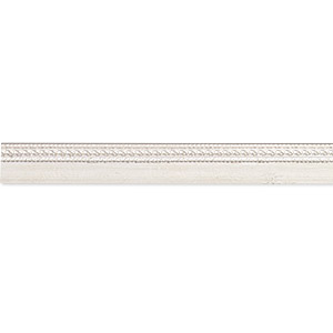 bezel strip, fine silver, 5.5x1mm fancy stepped, 18 and 28 gauge. sold per pkg of 1 foot.