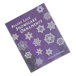 book, beaded lace snowflake ornaments by sandra d. halpenny. sold individually.