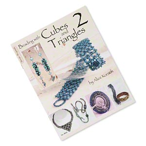 book, beading with cubes and triangles--2 by alice korach. sold individually.