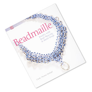 book, beadmaille: jewelry with bead weaving  metal rings by cindy thomas pankopf. sold individually. limit 1 per order.