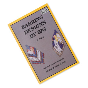 book, earring designs by sig: book 3 by sigrid wynne-evans. sold individually.