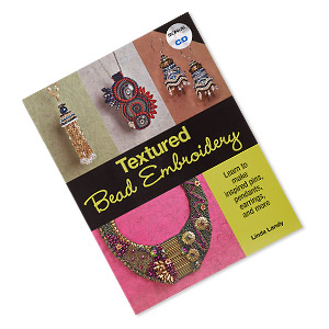 book, textured bead embroidery: learn to make inspired pins, pendants, earrings, and more by linda landy. sold individually.