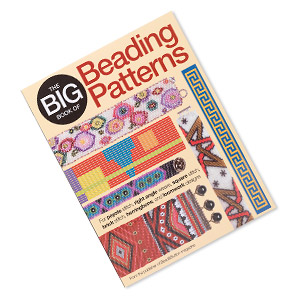 book, the big book of beading patterns - for peyote stitch, right angle weave, square stitch, brick stitch, herringbone, and loomwork designs by beadbutton magazine. sold individually.