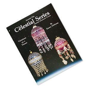 book, the celestial series: beaded ornament covers by karen desousa. sold individually.